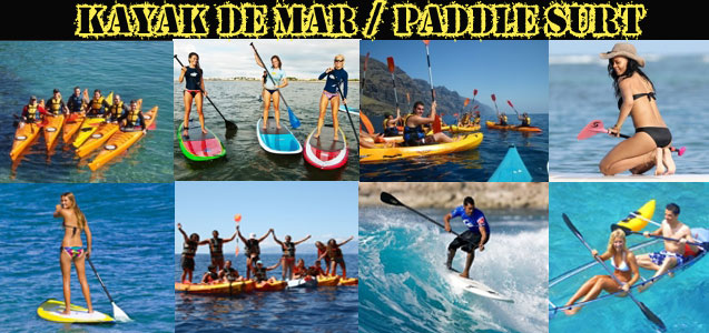 Kayak de Mar Paddle Surf