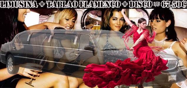 Limusina Clasica + Tablao Flamenco + Discoteca Barcelona