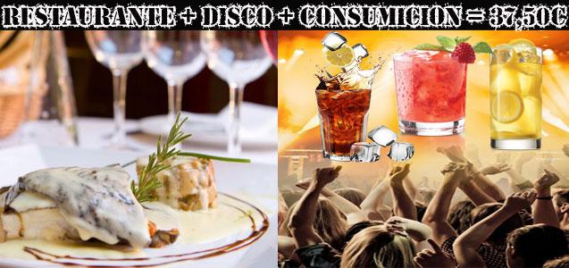 Pack Económico: Restaurante + Discoteca + Consumición Barcelona
